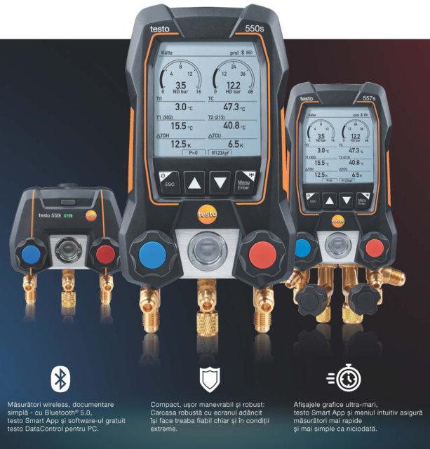 noua generație de manifolduri digitale testo 550i, 550s, 557s